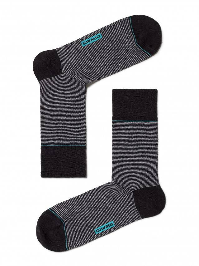 Men's socks DiWaRi HAPPY, s. 40-41, 045 black-grey - 1