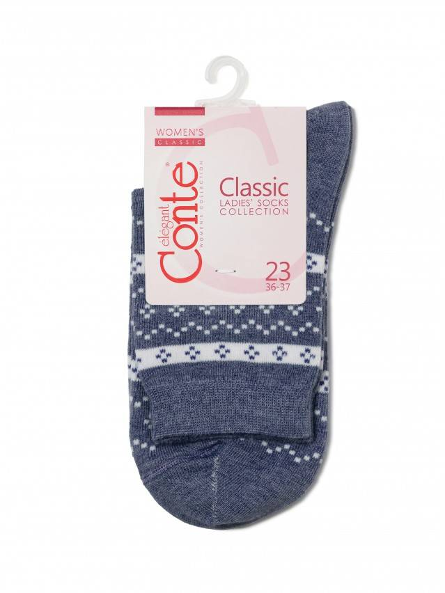 Women's socks CONTE ELEGANT CLASSIC, s.23, 062 dark denim - 3