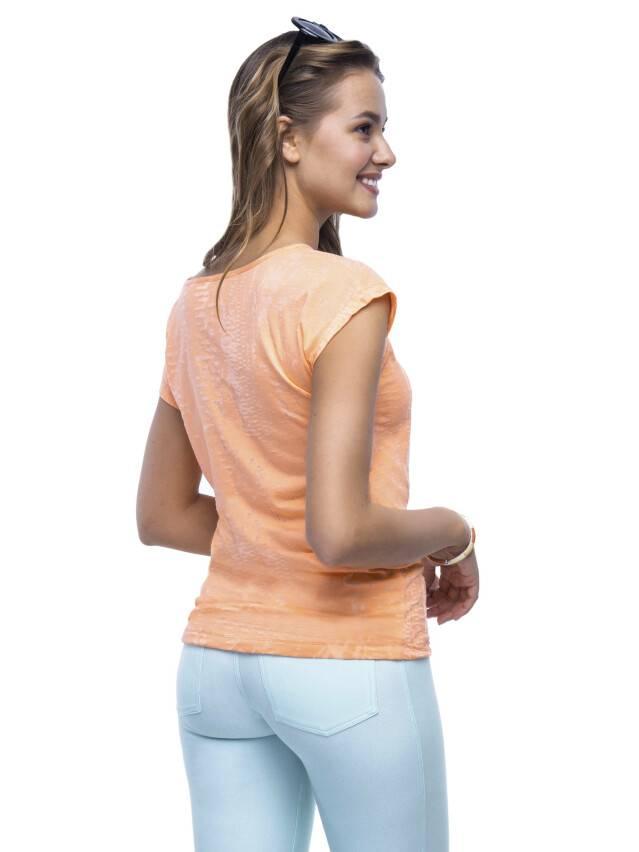 Women's polo neck shirt CONTE ELEGANT LD 511, s.158,164-100, orange - 1