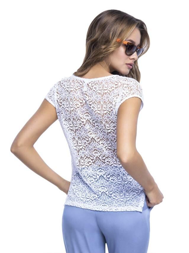 Women's polo neck shirt CONTE ELEGANT LD 527, s.158,164-100, white - 3