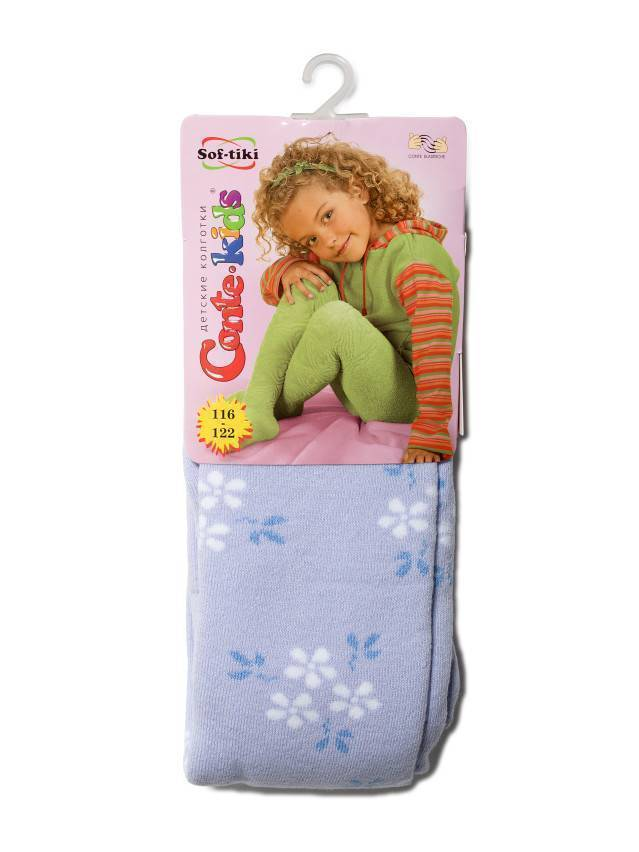 Children's tights CONTE-KIDS SOF-TIKI, s.116-122 (18),244 pale violet - 1