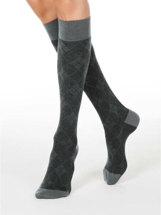 Women's knee high socks CONTE ELEGANT CLASSIC, s.25, 003 grey - 1