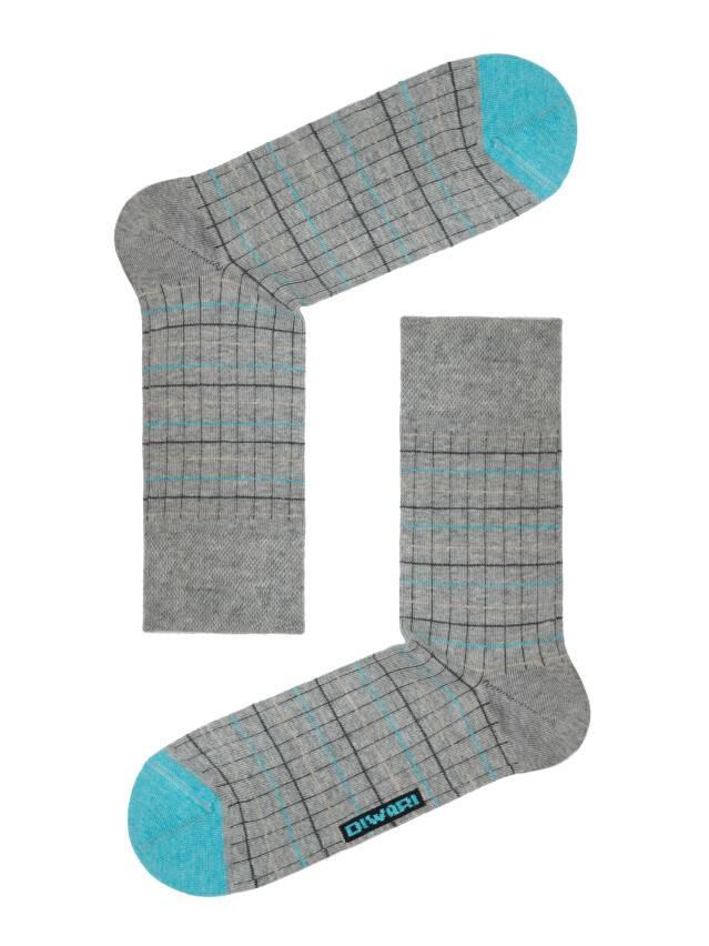 Men's socks DiWaRi HAPPY, s. 40-41, 036 grey-turquoise - 1