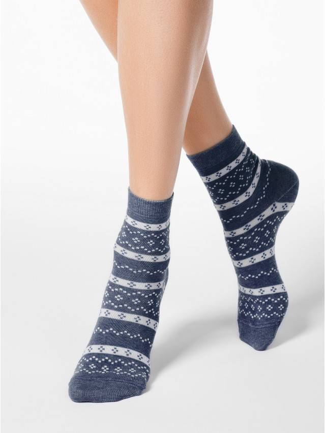 Women's socks CONTE ELEGANT CLASSIC, s.23, 062 dark denim - 1