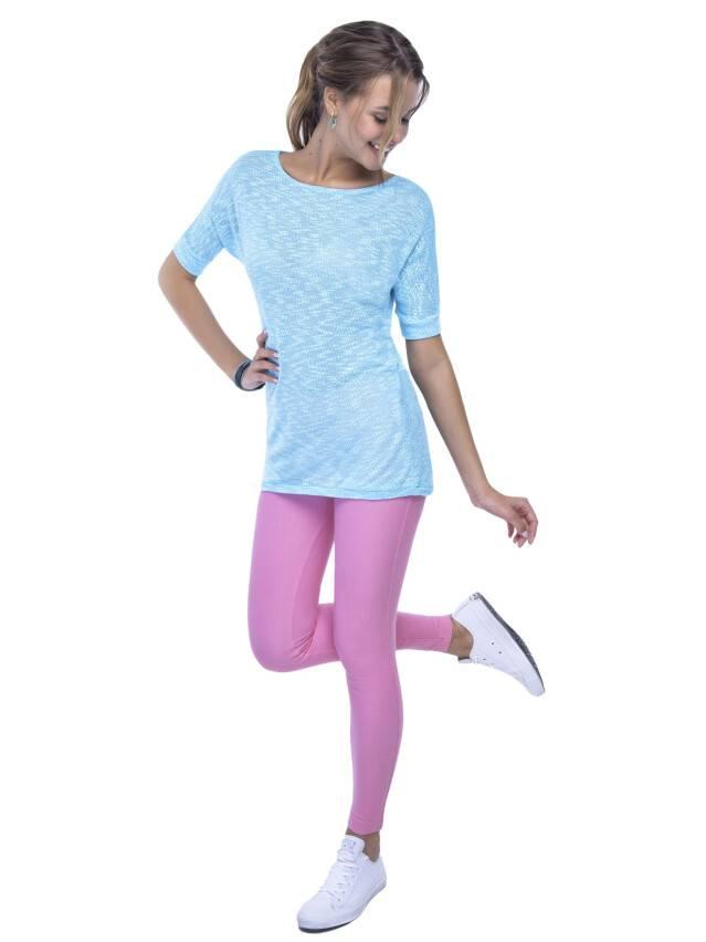 Women's polo neck shirt CONTE ELEGANT LD 524, s.170,176-100, azure - 2