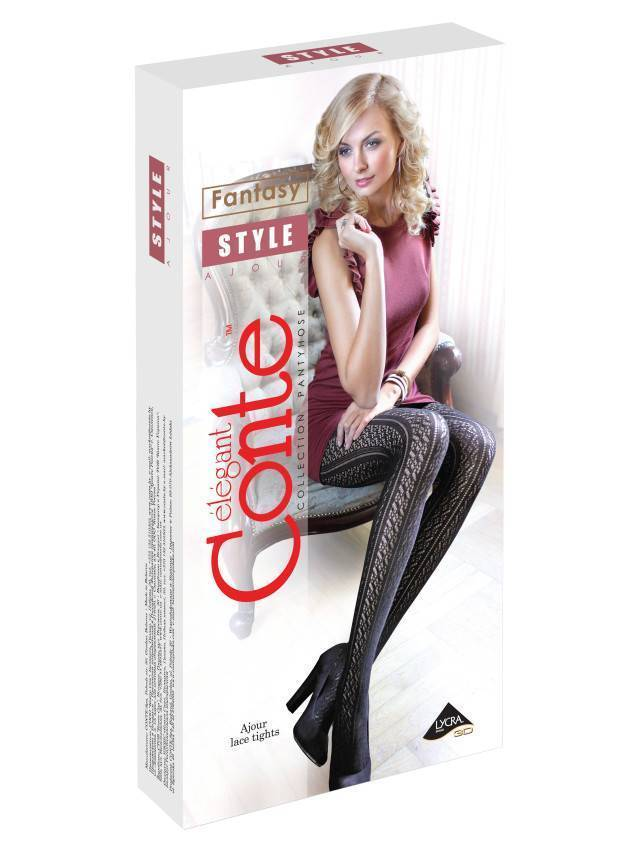 Women's tights CONTE ELEGANT STYLE, s.2, bianco - 2