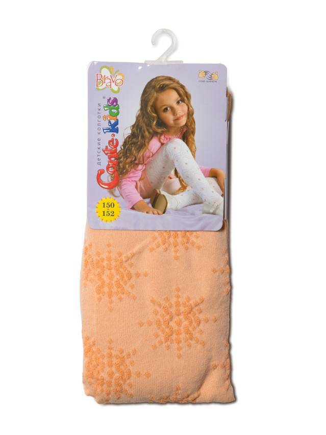 Children's tights CONTE-KIDS BRAVO, s.150-152 (22),224 peach - 1