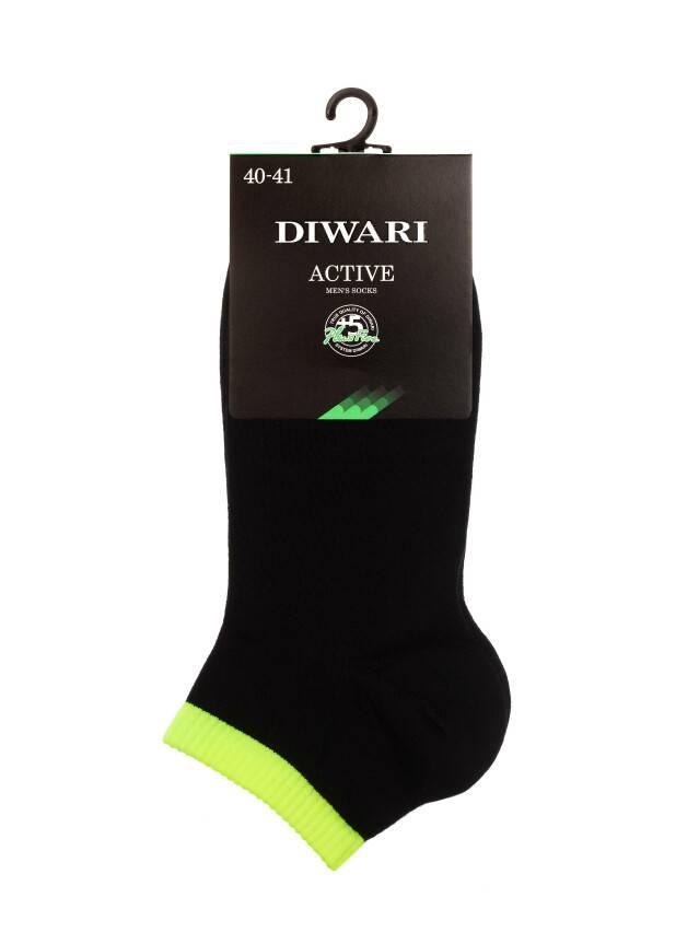 Men's socks DiWaRi ACTIVE, s. 40-41, 068 black-lettuce green - 2