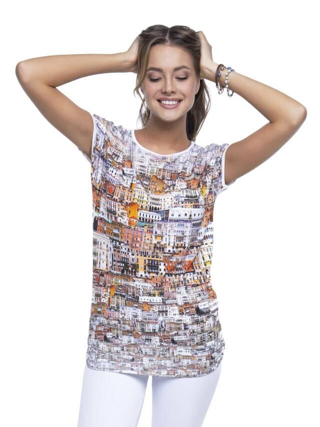 Women's polo neck shirt CONTE ELEGANT LD 517, s.158,164-100, milky - 3