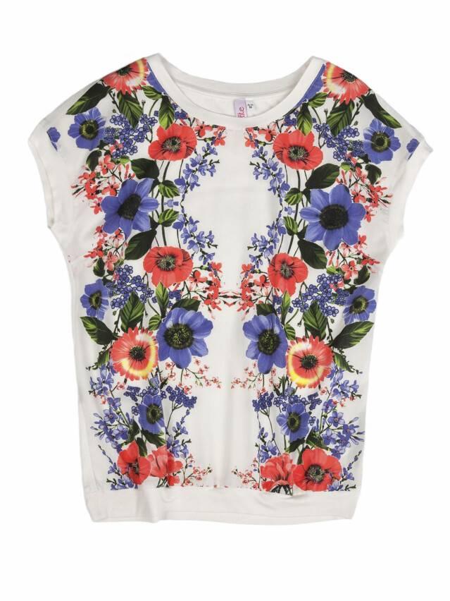 Women's polo neck shirt CONTE ELEGANT LD 505, s.158,164-100, white - 1
