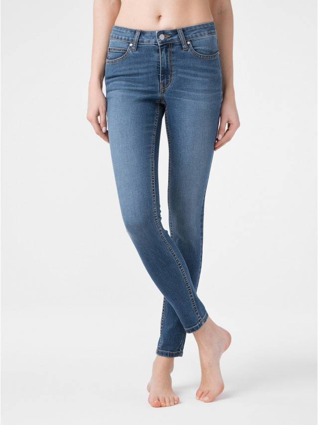 Denim trousers CONTE ELEGANT CON-182, s.170-102, authentic blue - 1
