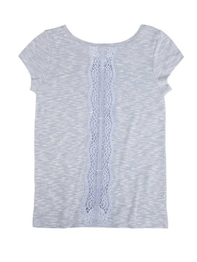 Women's polo neck shirt CONTE ELEGANT LD 499, s.158,164-100, denim - 1
