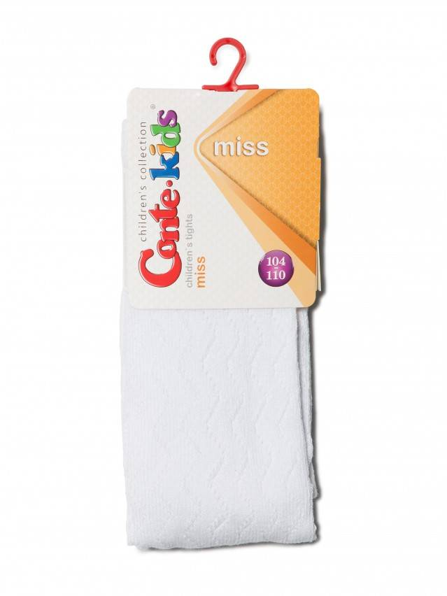 Children's tights CONTE-KIDS MISS, s.104-110 (16),268 white - 2