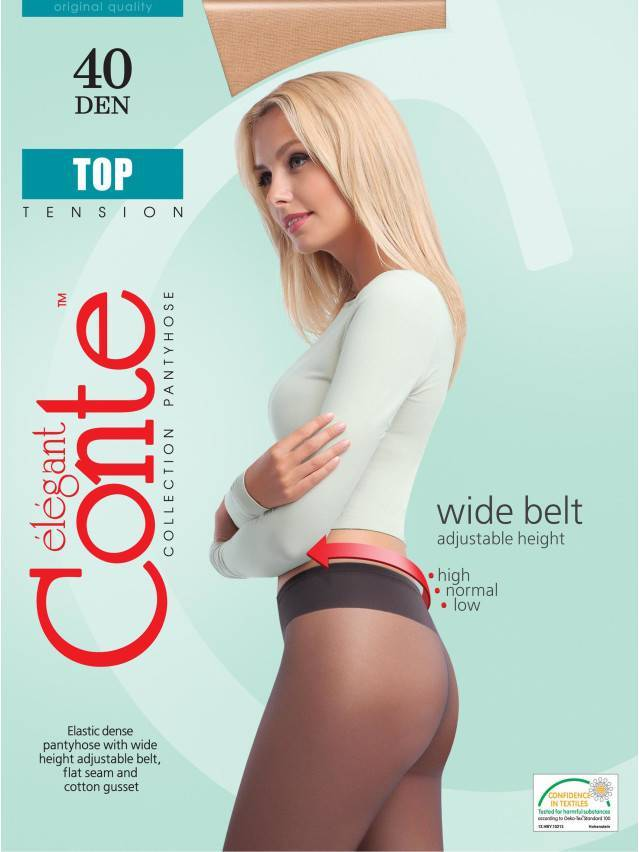 Women's tights CONTE ELEGANT TOP 40, s.2, natural - 2