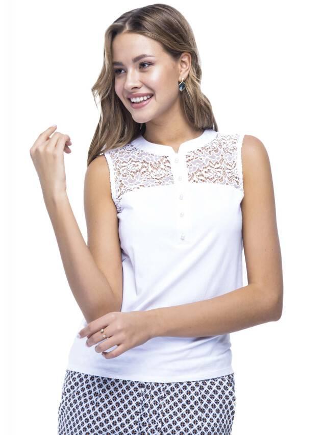 Women's polo neck shirt CONTE ELEGANT LD 514, s.158,164-84, white - 1