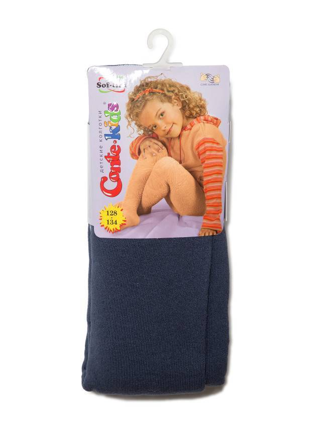 Children's tights CONTE-KIDS SOF-TIKI, s.128-134 (20),225 dark denim - 1
