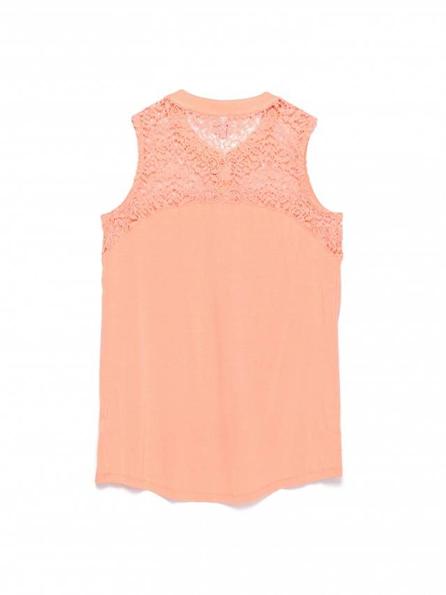 Women's polo neck shirt CONTE ELEGANT LD 514, s.158,164-84, peach - 2