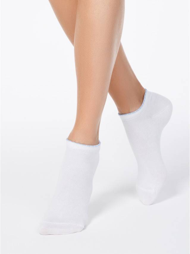 Women's socks CONTE ELEGANT ACTIVE, s.23, 041 white-blue - 1