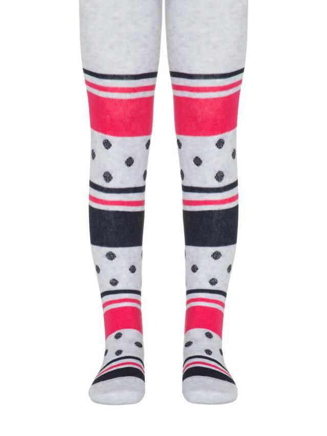 Children's tights CONTE-KIDS TIP-TOP, s.92-98 (14),408 light grey-raspberry pink - 1