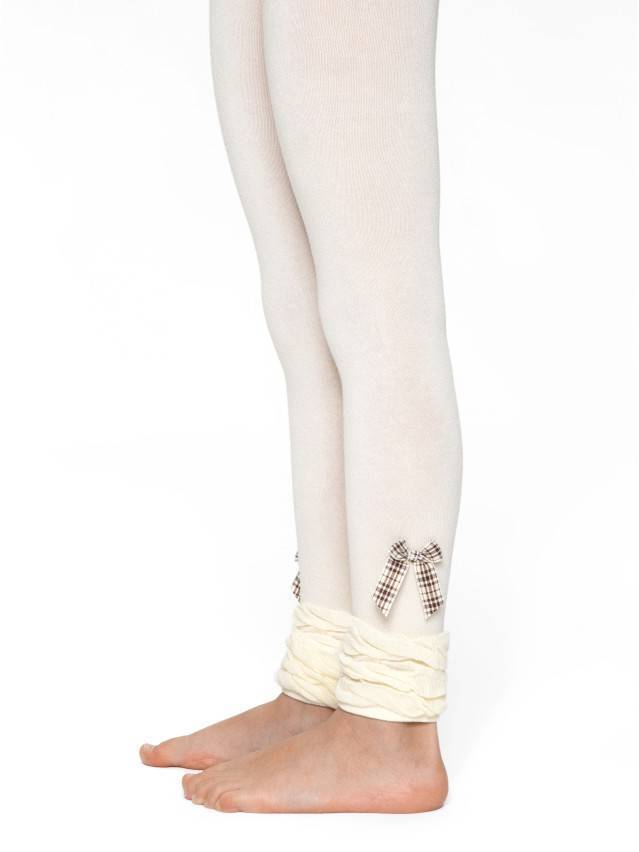Leggings for girls CONTE-KIDS VIVA, s.128-134, 000 cream - 1
