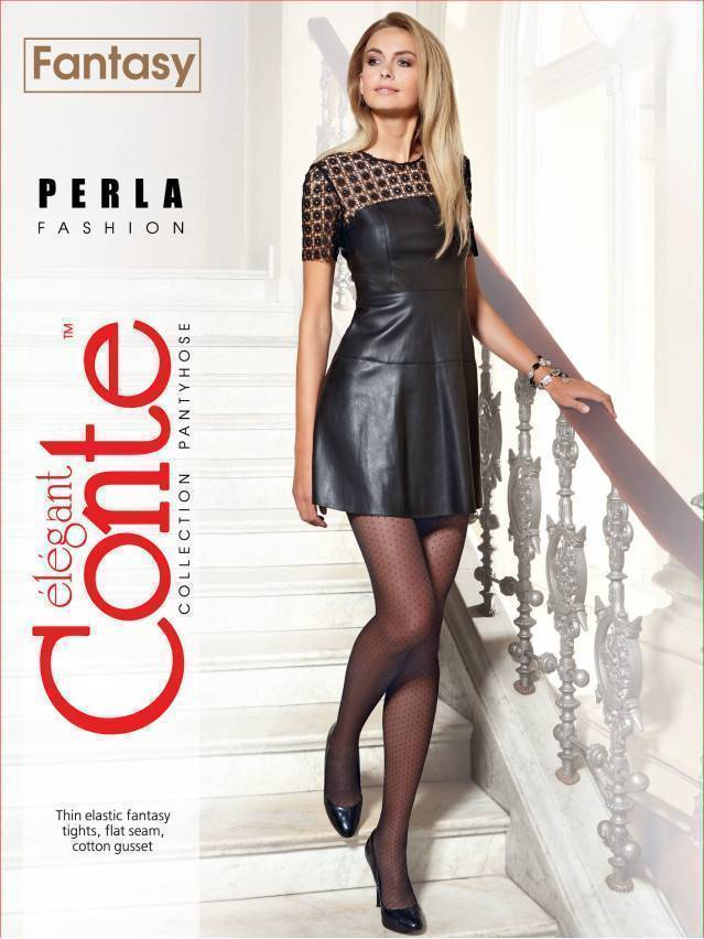 Women's tights CONTE ELEGANT PERLA, s.2, grafit - 2