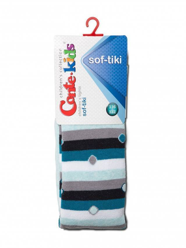Children's tights CONTE-KIDS SOF-TIKI, s.116-122 (18),397 pale turquoise - 2