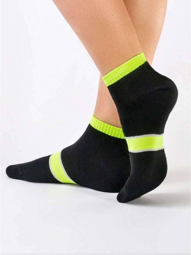 Women's socks CONTE ELEGANT CLASSIC, s.23, 066 black-lettuce green - 1