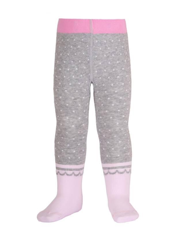 Children's tights CONTE-KIDS TIP-TOP, s.62-74 (12),383 grey-light pink - 1