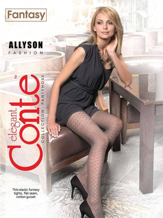 Women's tights CONTE ELEGANT ALLYSON, s.2, grafit - 2