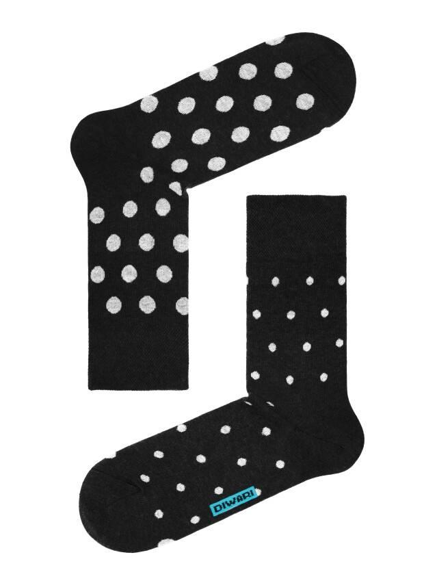 Men's socks DiWaRi HAPPY, s. 40-41, 049 black-grey - 1