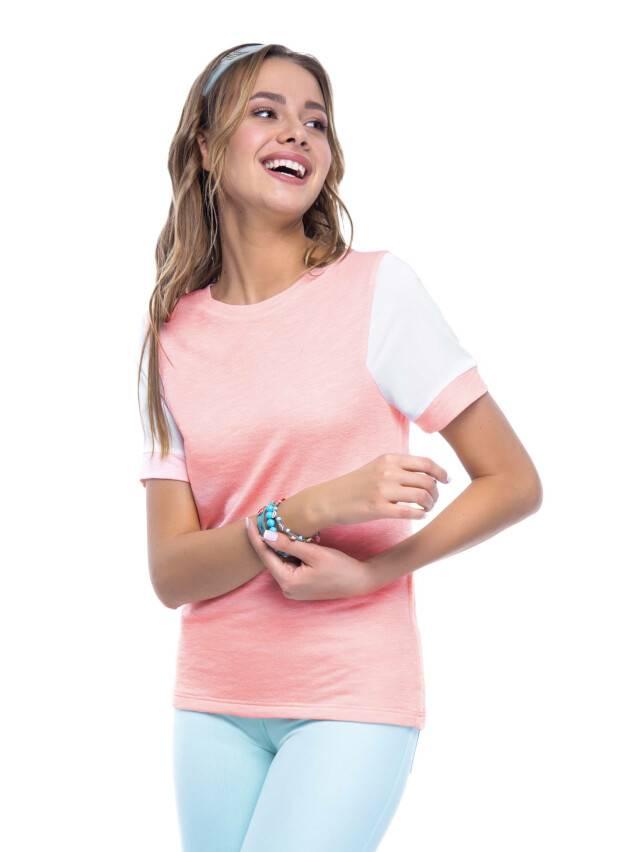 Women's polo neck shirt CONTE ELEGANT LD 515, s.158,164-100, pink - 3