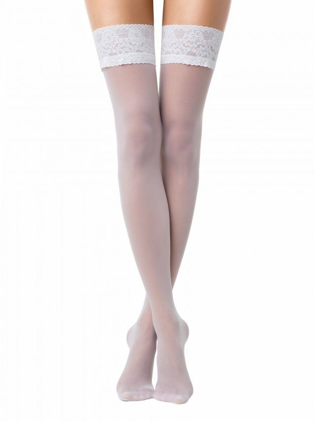 Women's stockings CONTE ELEGANT CLASS 20, s.23-25 (1/2),bianco - 1