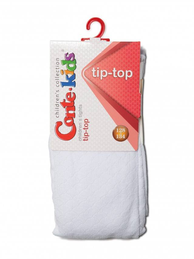 Children's tights CONTE-KIDS TIP-TOP, s.116-122 (18),364 white - 2