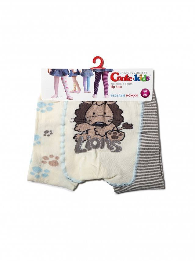 Children's tights CONTE-KIDS TIP-TOP, s.62-74 (12),356 cappuccino-grey - 3