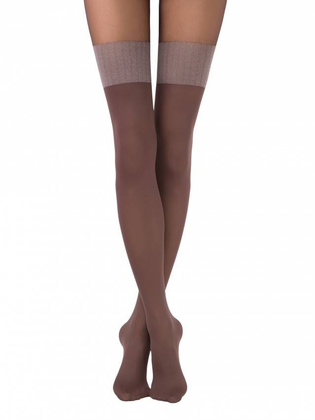 Women's tights CONTE ELEGANT TWICE, s.2, chocolate - 1