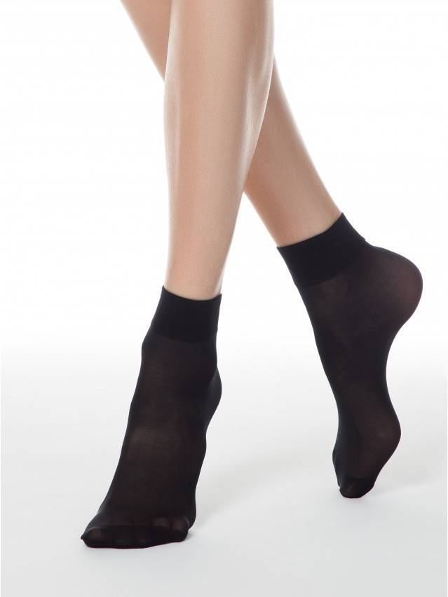 Women's socks CONTE ELEGANT TENSION 40 (2 pairs),s.23-25, nero - 1