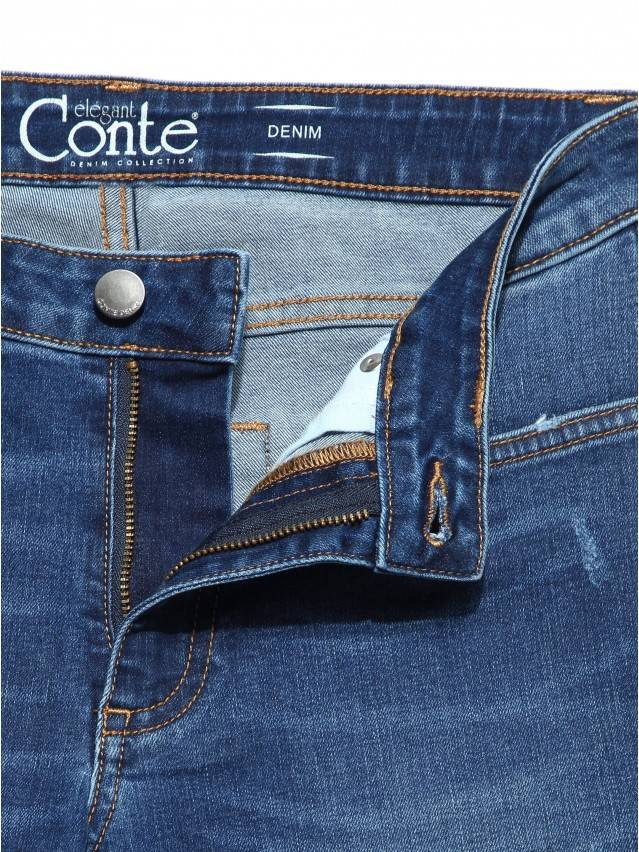 Denim trousers CONTE ELEGANT CON-152, s.164-98, authentic blue - 6