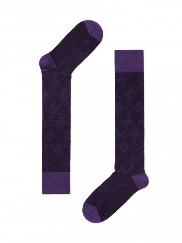 Women's knee high socks CONTE ELEGANT CLASSIC, s.25, 003 violet - 2