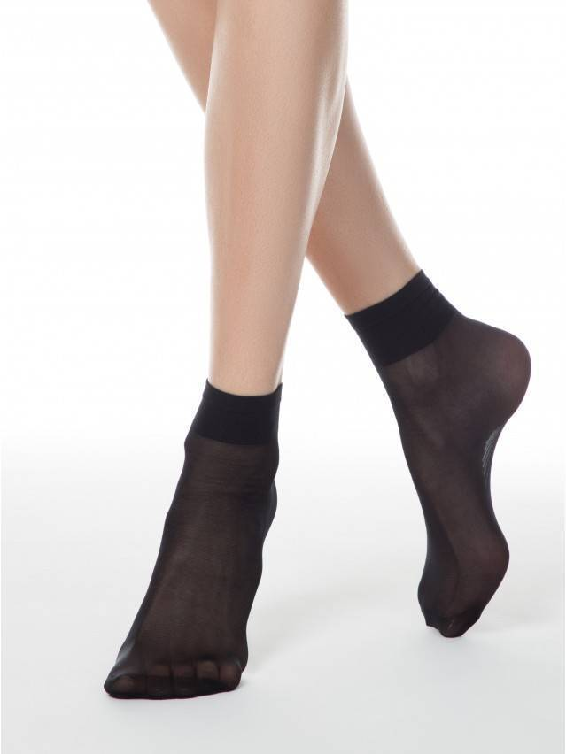 Women's socks CONTE ELEGANT TENSION SOFT 20 (1 pair),s.23-25, nero - 1