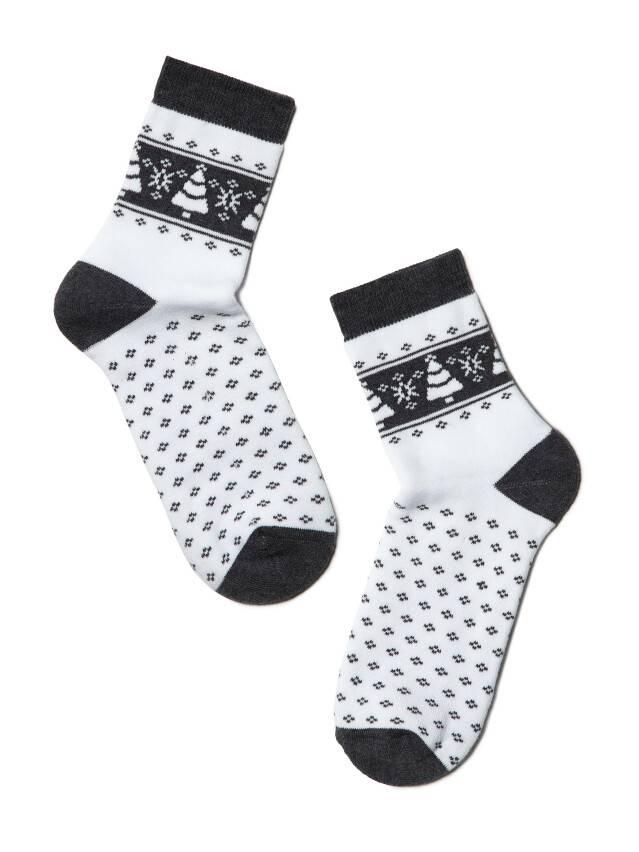 Women's socks CONTE ELEGANT COMFORT, s.23, 080 white-dark grey - 2