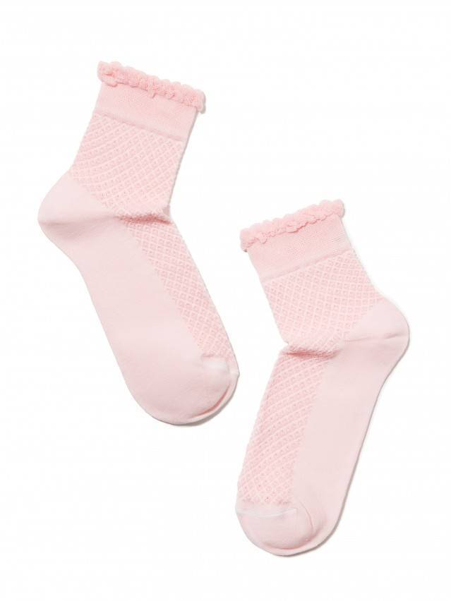 Openwork cotton socks CLASSIC with picot 2