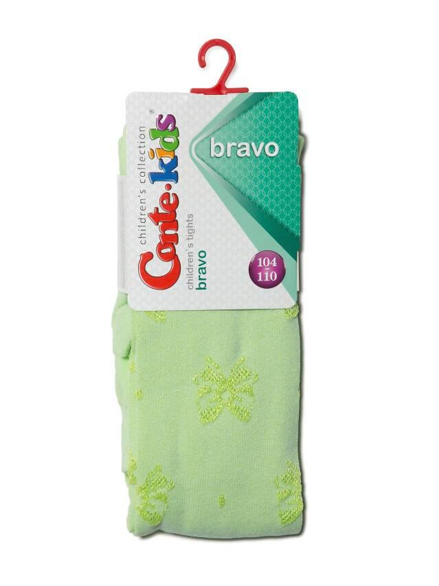 Children's tights CONTE-KIDS BRAVO, s.104-110 (16),370 lettuce green - 2