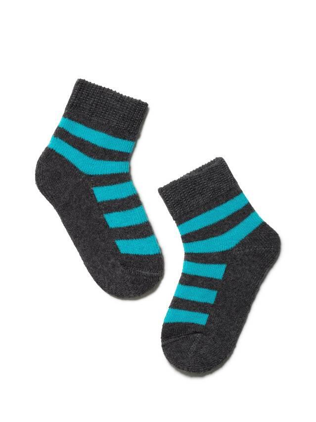Children's socks CONTE-KIDS SOF-TIKI, s.10, 210 dark grey-turquoise - 1
