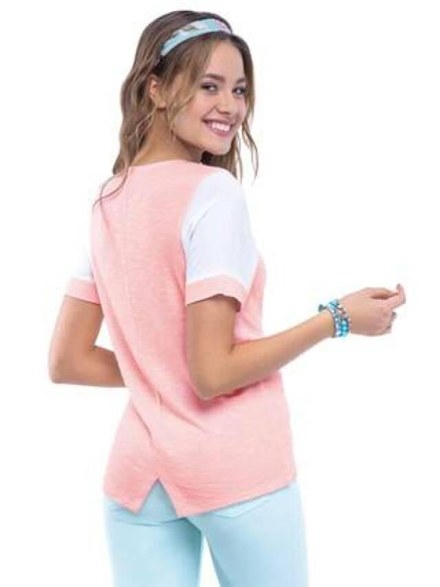 Women's polo neck shirt CONTE ELEGANT LD 515, s.158,164-100, pink - 1