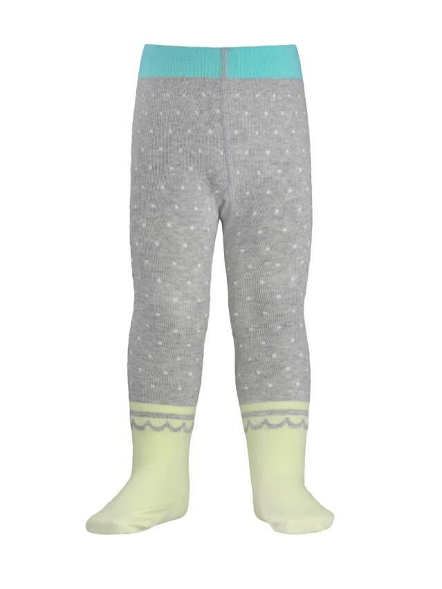 Children's tights CONTE-KIDS TIP-TOP, s.62-74 (12),383 grey-lettuce green - 1