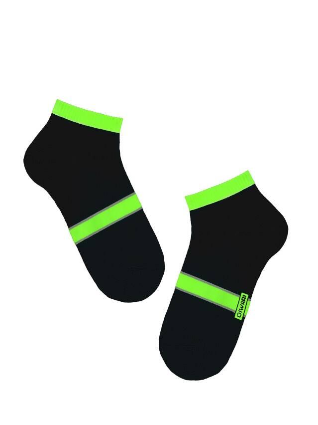 Men's socks DiWaRi ACTIVE, s. 40-41, 066 black-lettuce green - 1