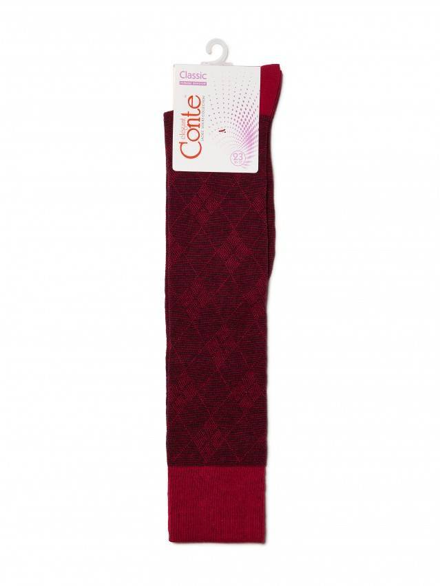 Women's knee high socks CONTE ELEGANT CLASSIC, s.23, 003 wine-coloured - 3