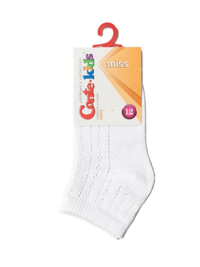 Children's socks CONTE-KIDS MISS, s.12, 112 white - 2