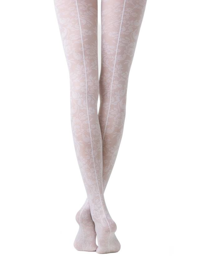 Women's tights CONTE ELEGANT LACE, s.2, bianco - 1