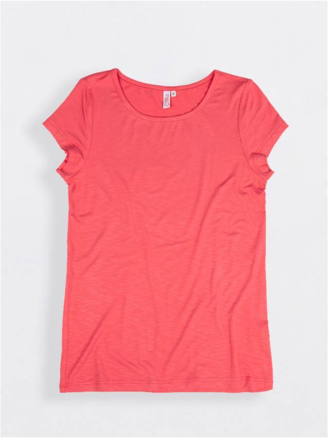 Women's polo neck shirt CONTE ELEGANT LD 510, s.158,164-100, red - 1